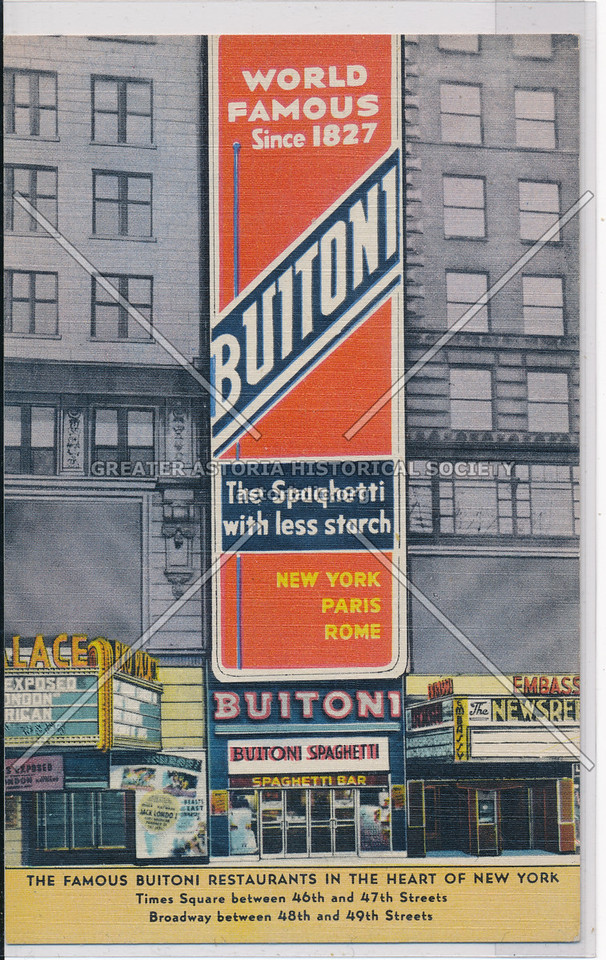 The Famous Buitoni Restaurants In The Heart Of New York
