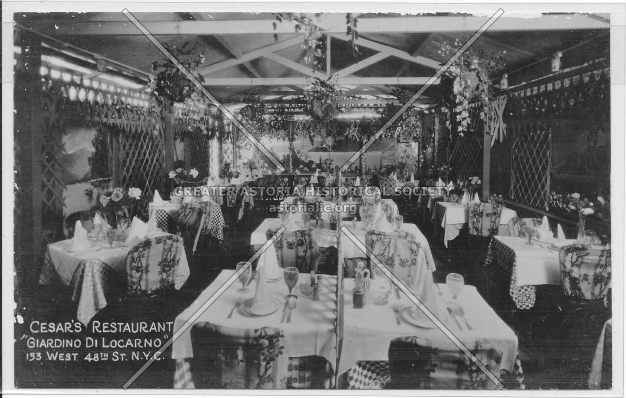 "Cesar's Restaurant, ""Giardino Di Locarno"" 153 West 48th St., N.Y.C."