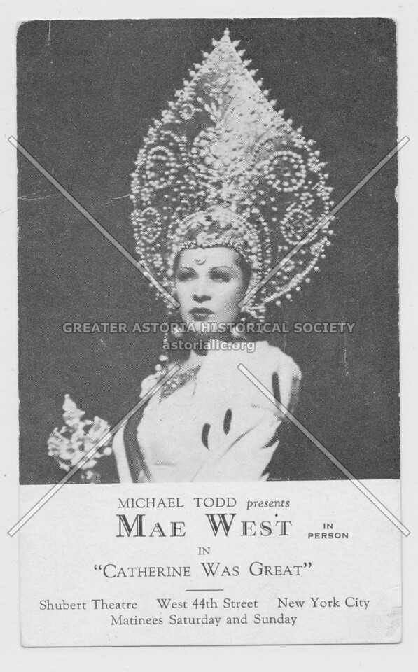 "Michael Todd presents Mae West in ""Catherine Was Great"" Shubert Theatre"