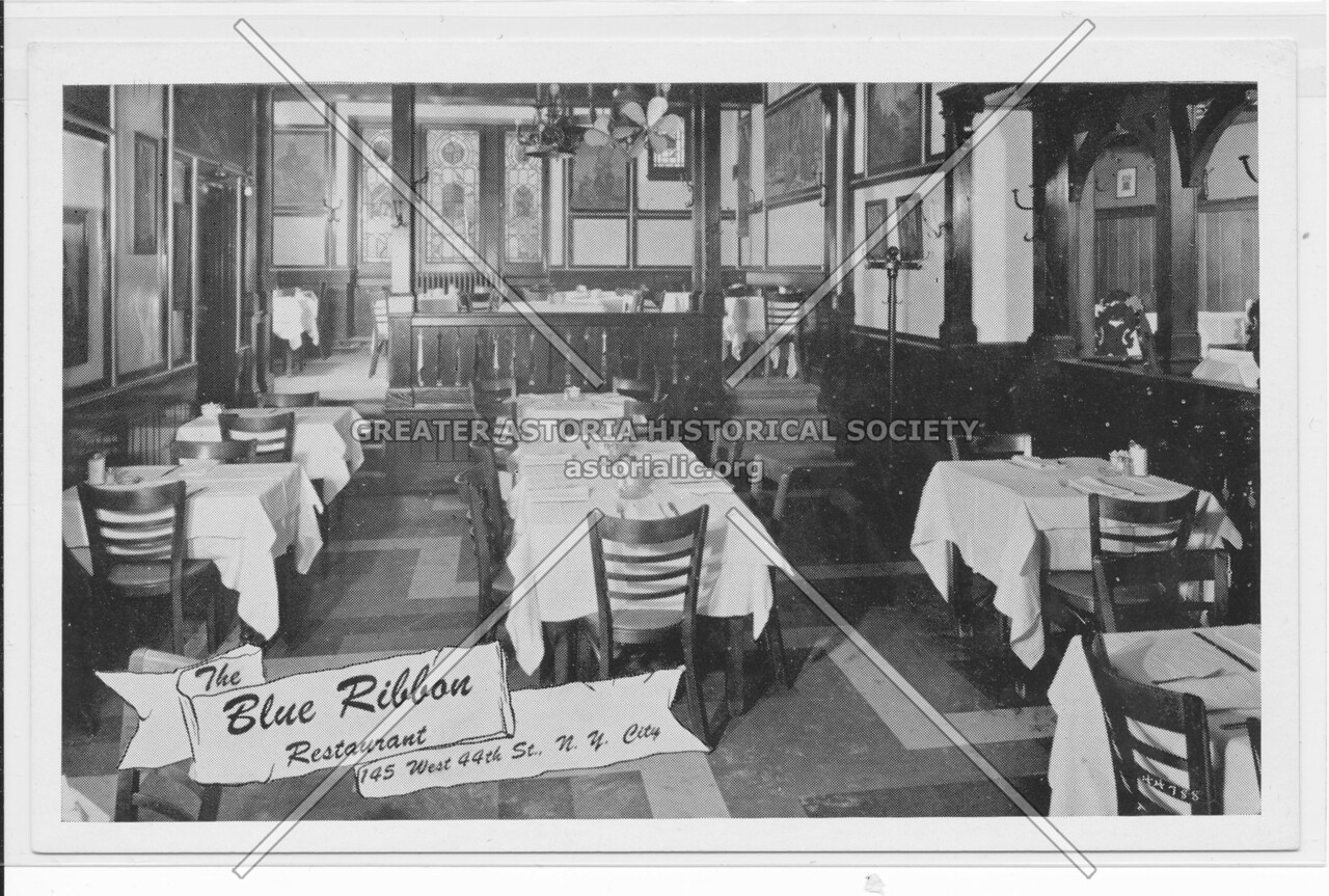 The Blue Ribbon Restaurant, 145 West 44th St., N.Y. City.