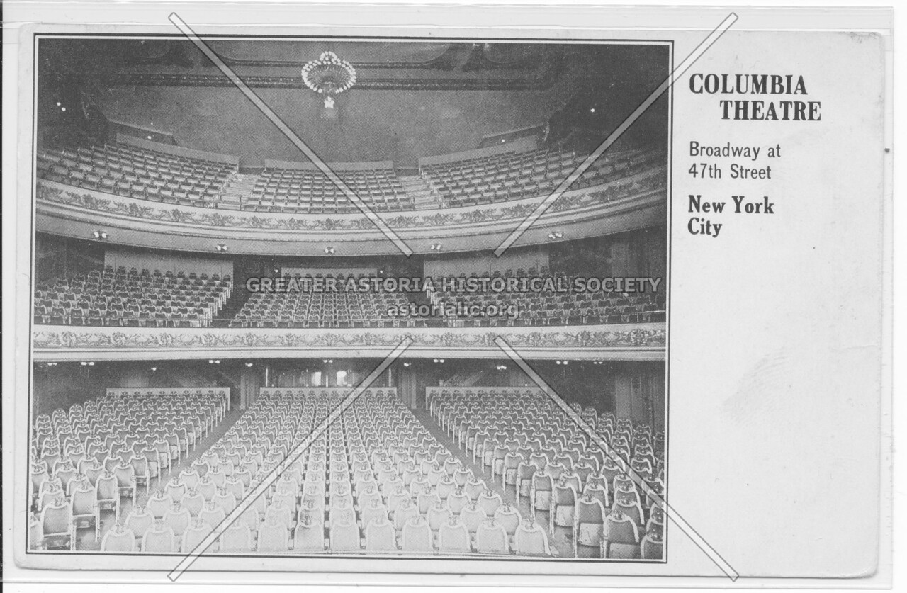 Columbia Theatre, Broadway at 47th Street, New York City