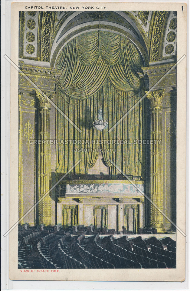 Capitol Theatre, New York City, View Of State Box