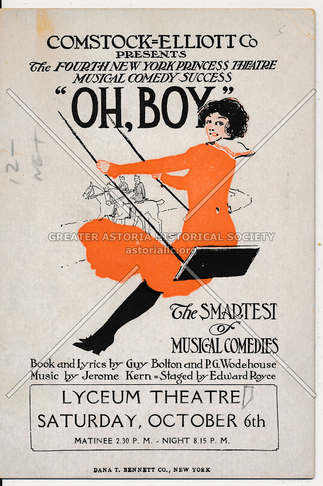 Comedy Oh Boy (1917) Lyceum Theater