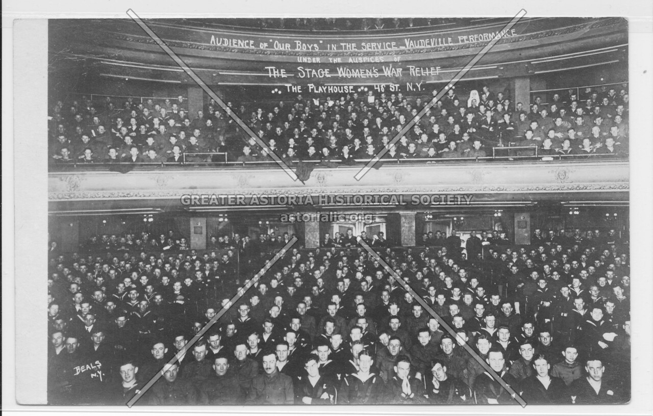 """Audience Of """"Our Boys"""" In The Service, Vaudeville Performance"""