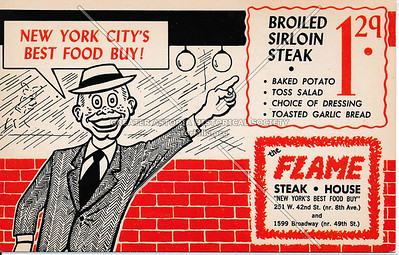 The Flame Steak House: New York City's Best Food Buy!