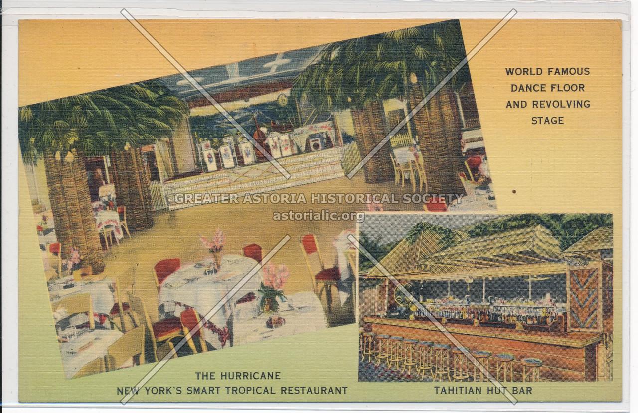 World Famous Dance Floor And Revolving Stage, Tahitian Hut Bar, The Hurricane, New York's Smart Tropical Restaurant