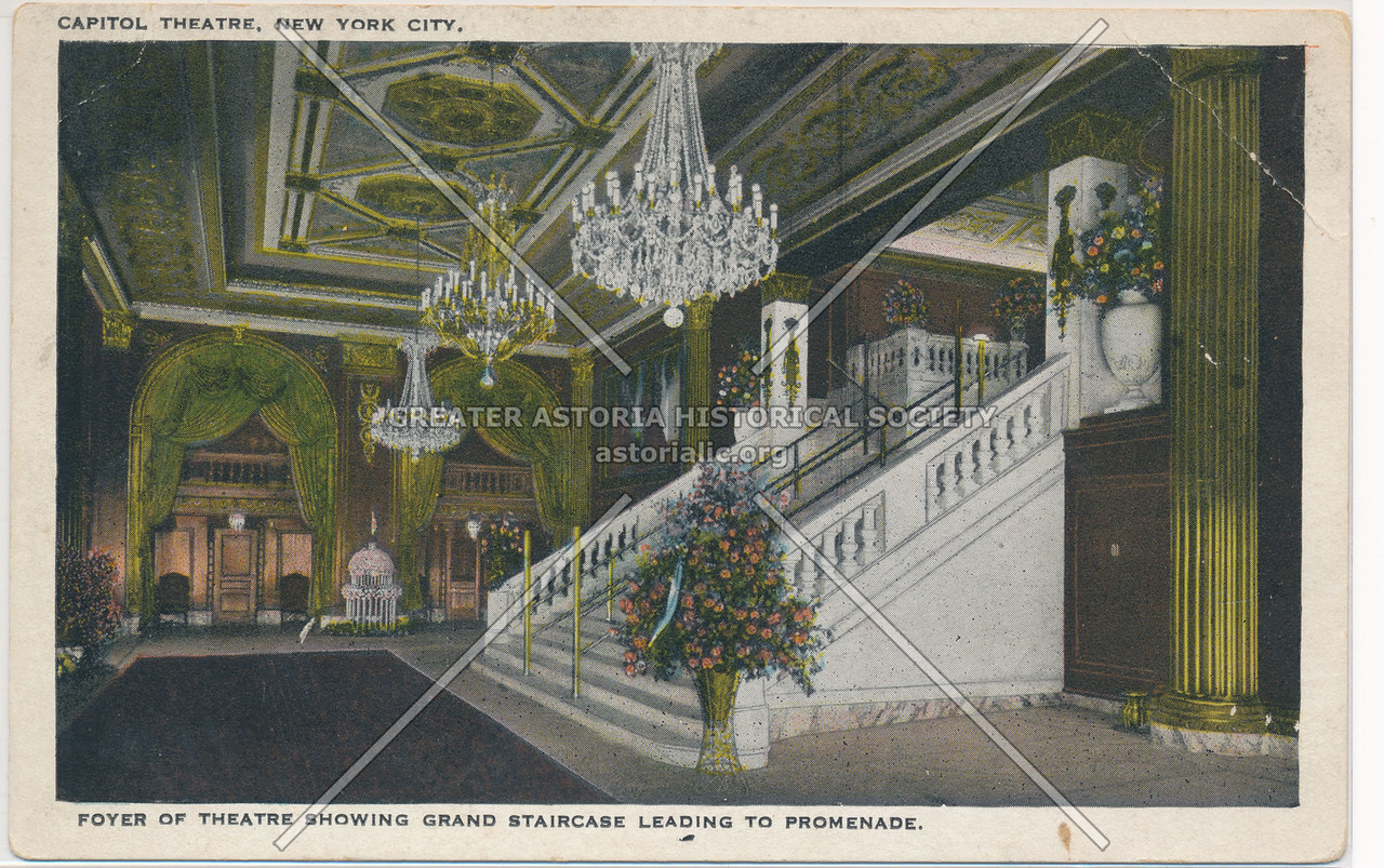 Foyer Of Theatre Showing Grand Staircase Leading To Promenade, Capitol Theatre