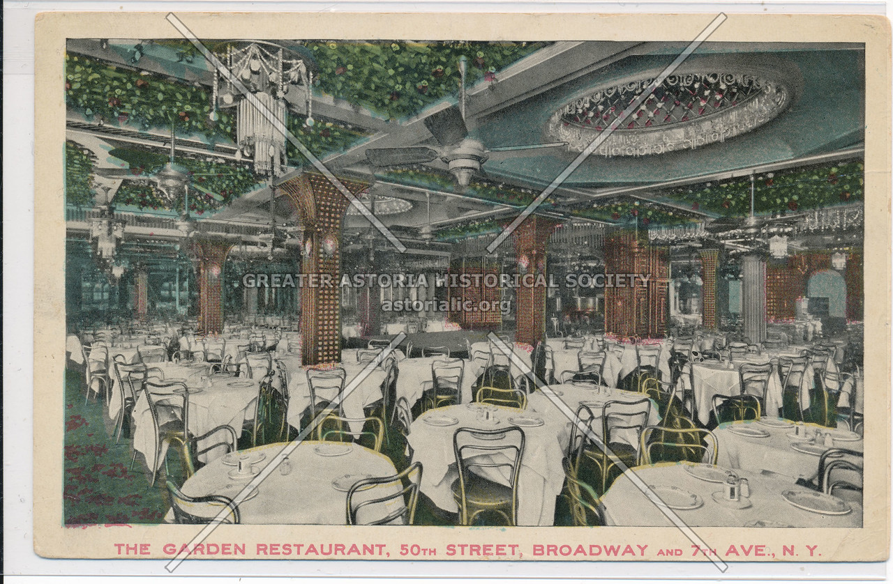 The Garden Restaurant, 50th Street, Broadway And 7th Ave., N.Y.