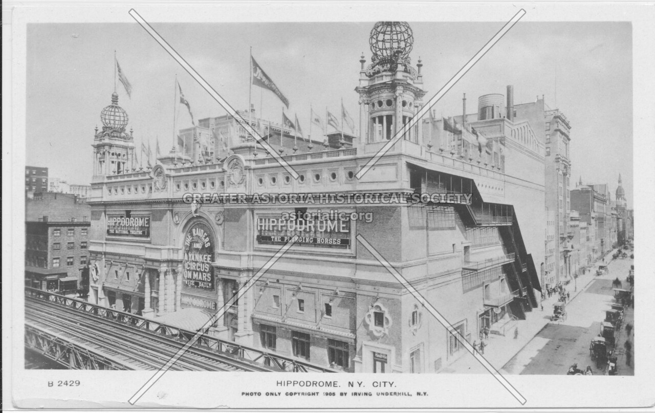 "Hippodrome,""The Plunging Horses"", New York City"