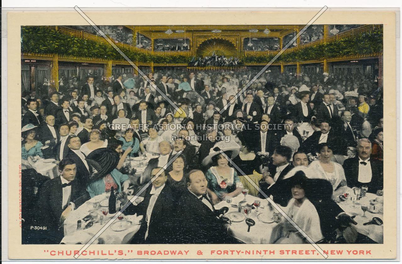 """Churchill's,"" Broadway & Forty-Ninth Street, New York"