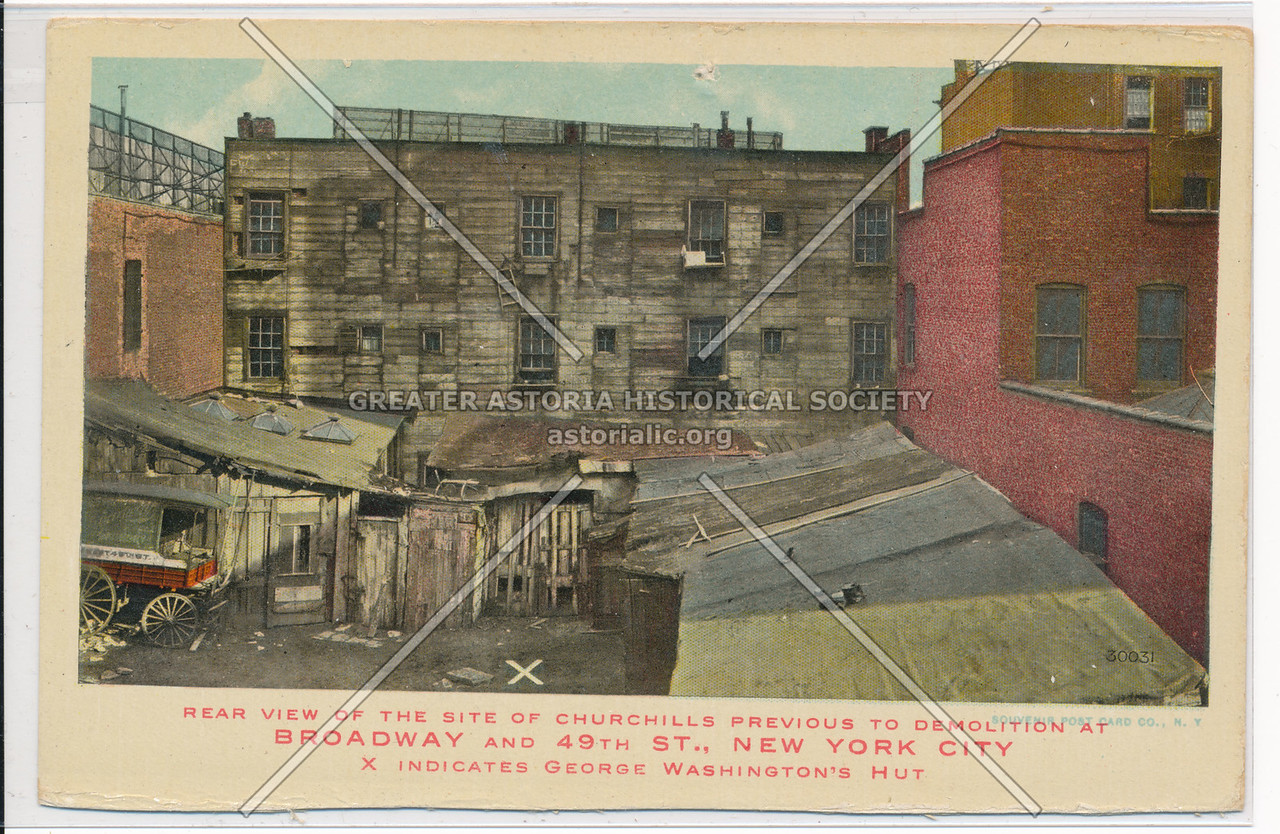 Rear View Of The Site Of Churchill's Previous To Demolition At Broadway And 49th St., New York City