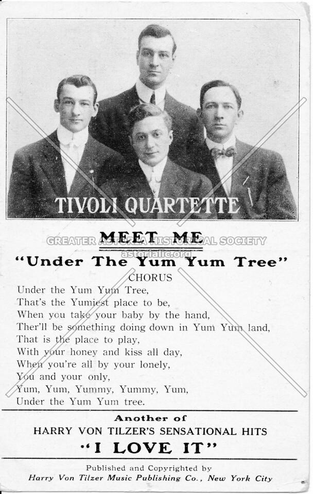 """Tivoli Quartette, Meet Me """"Under The Yum Yum Tree"""""""