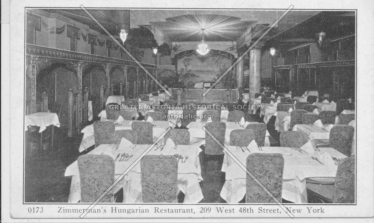 Zimmerman's Hungarian Restaurant, 209 West 48th Street, New York