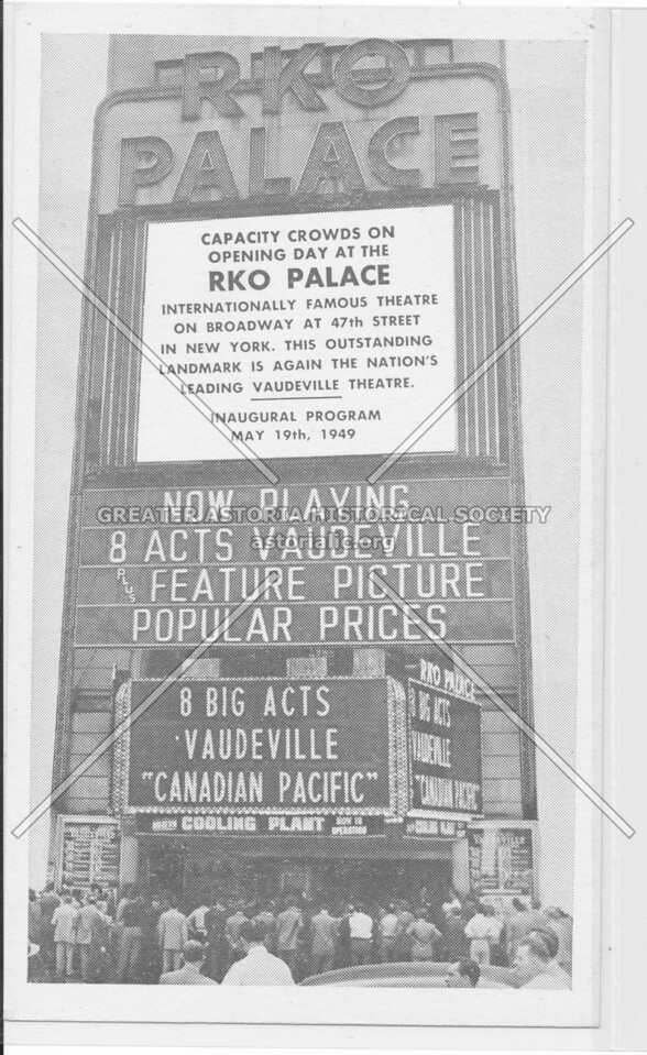 "RKO Palace, 8 Big Acts Vaudeville ""Canadian Pacific"""