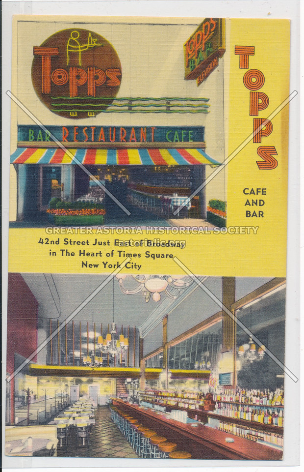 Topps Cafe And Bar, 42nd Street Just East of Broadway in The Heart of Times Square, New York City