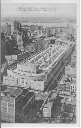 Port Authority Bus Terminal, N.Y.C. Looking Over Hudson River To N.J.