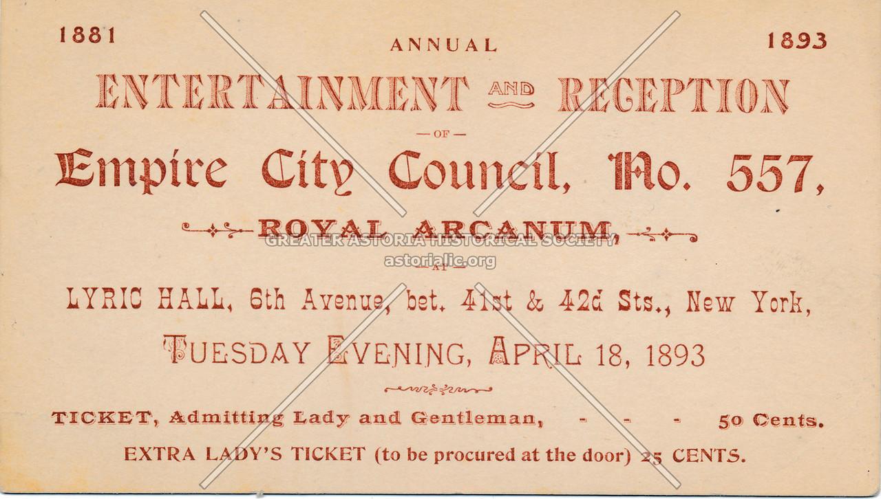 Empire City Council, Royal Arcanum