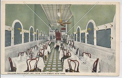 Shulem's Restaurant, Inc., 118 W. 47th Street, New York