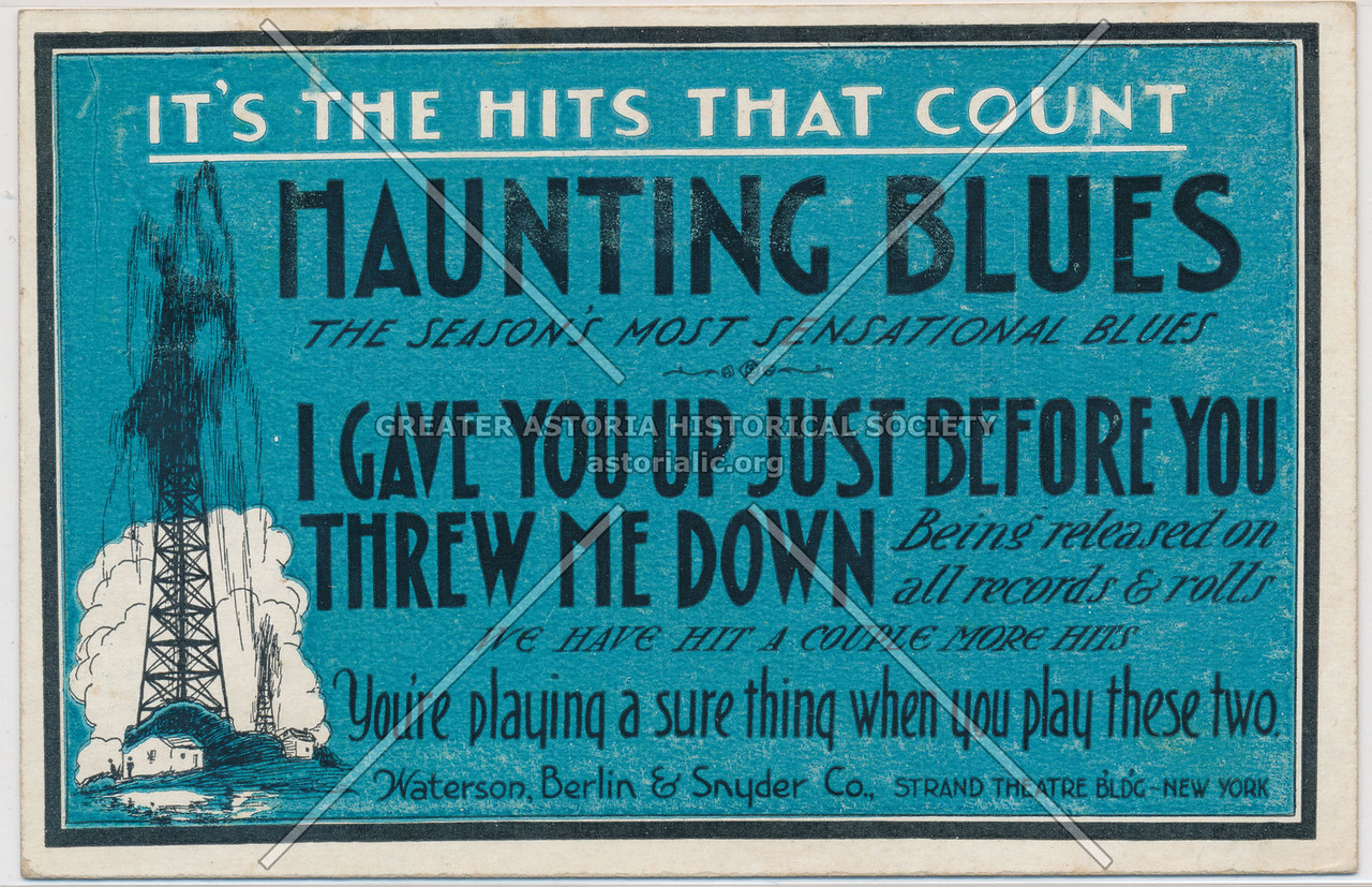 It's The Hits That Count, Haunting Blues, Waterson, Berslin & Snyder Co., Strand Theatre Bldg- New York