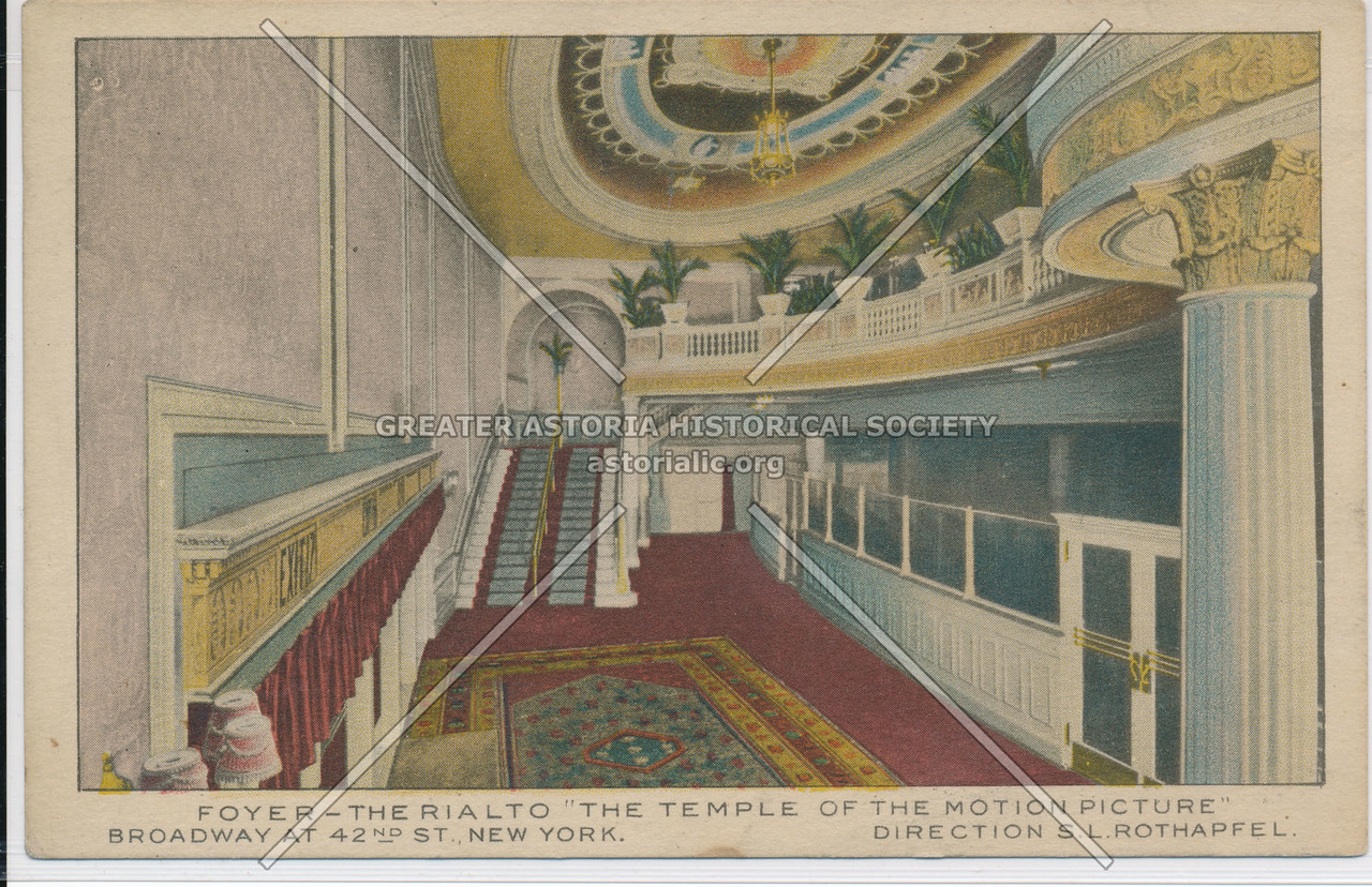 """Foyer- The Rialto """"The Temple Of The Motion Picture"""""""