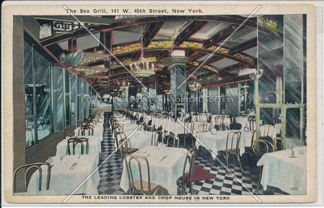 The Sea Grill, 141 W. 45th Street, New York. The Leading Lobster And Chop House In New York