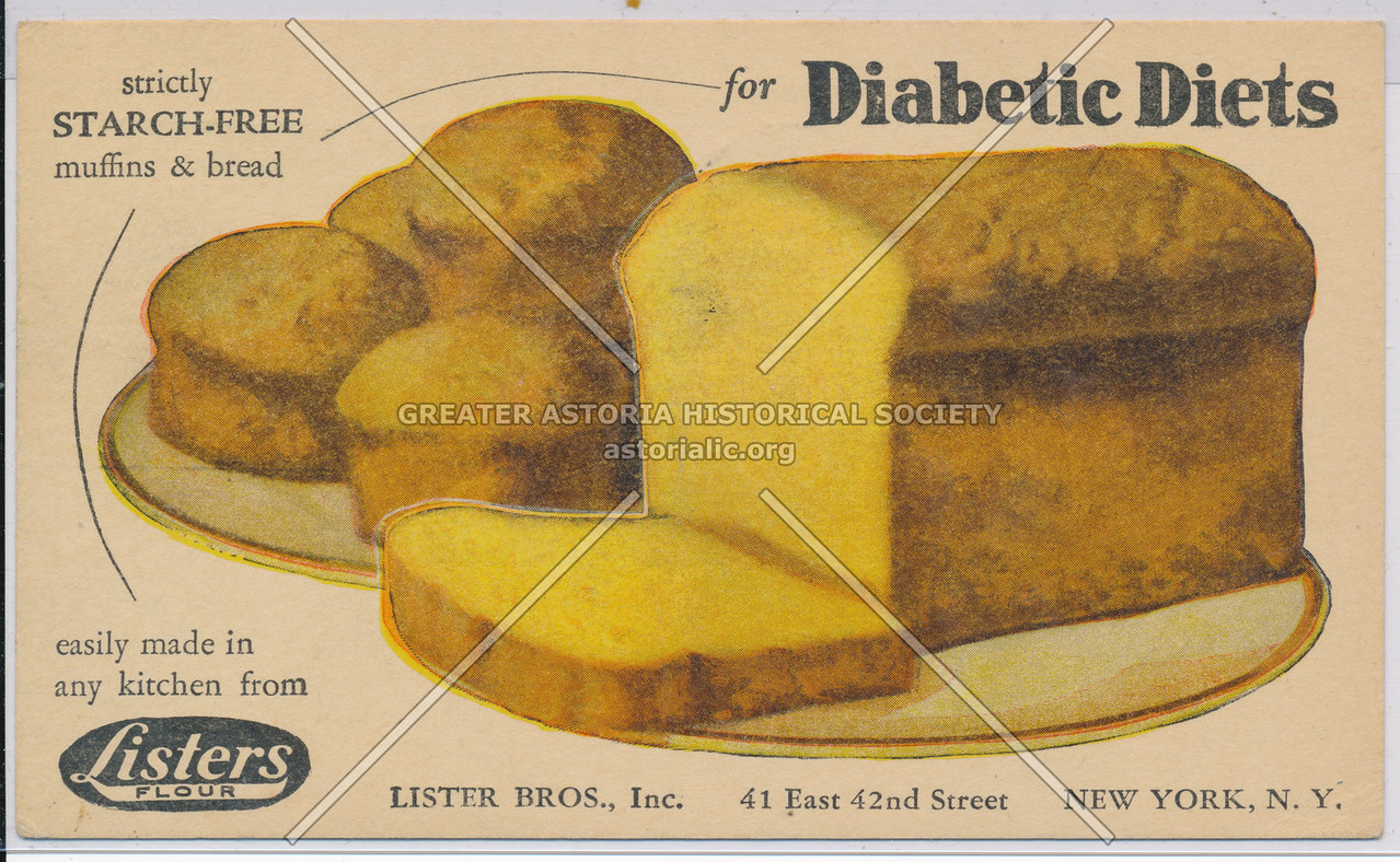 Strictly Starch-Free Muffins & Bread for Diabetic Diets, Listers Flour