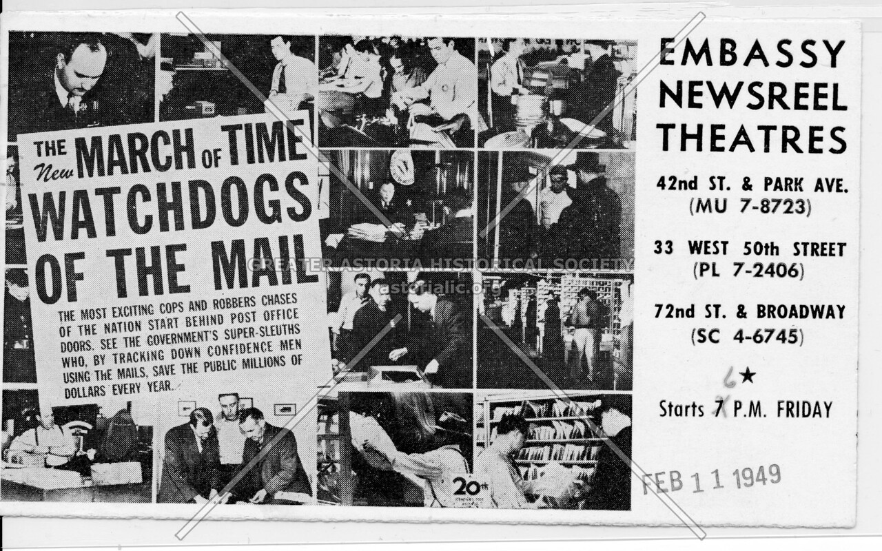 Embassy Newsreel Theatres, The New March of Times, Watchdogs Of The Mail
