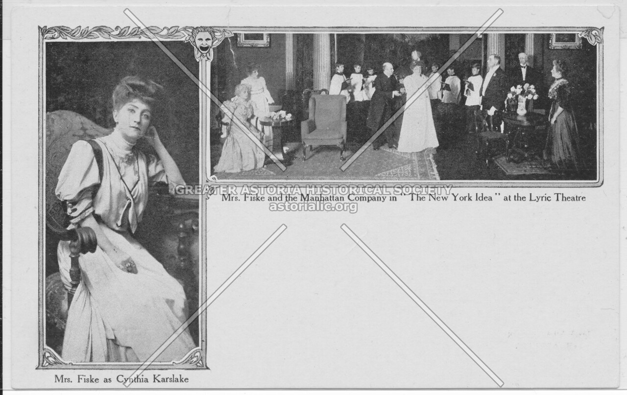 """Mrs. Fiske and the Manhattan Company in """"The New York Idea"""" at the Lyric Theatre"""