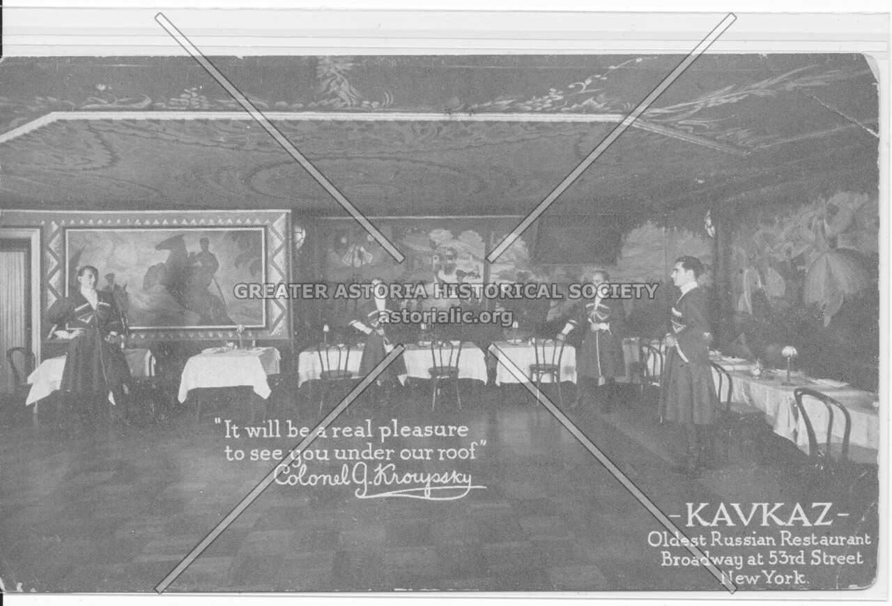 Kavkaz, Oldest Russian Restaurant, Broadway at 53rd Street, New York