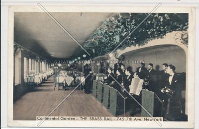 Continental Garden-- The Brass Rail- 745 7th Ave. New York