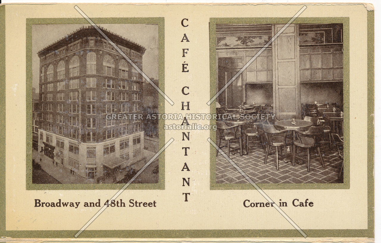 Cafe Chantant, Broadway and 48th Street, Corner in Cafe