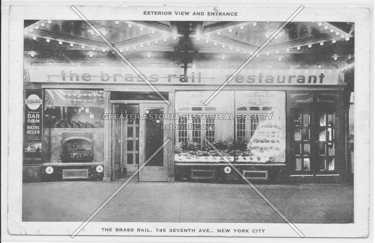 Exterior View And Entrance, The Brass Rail, 745 Seventh Ave., New York City