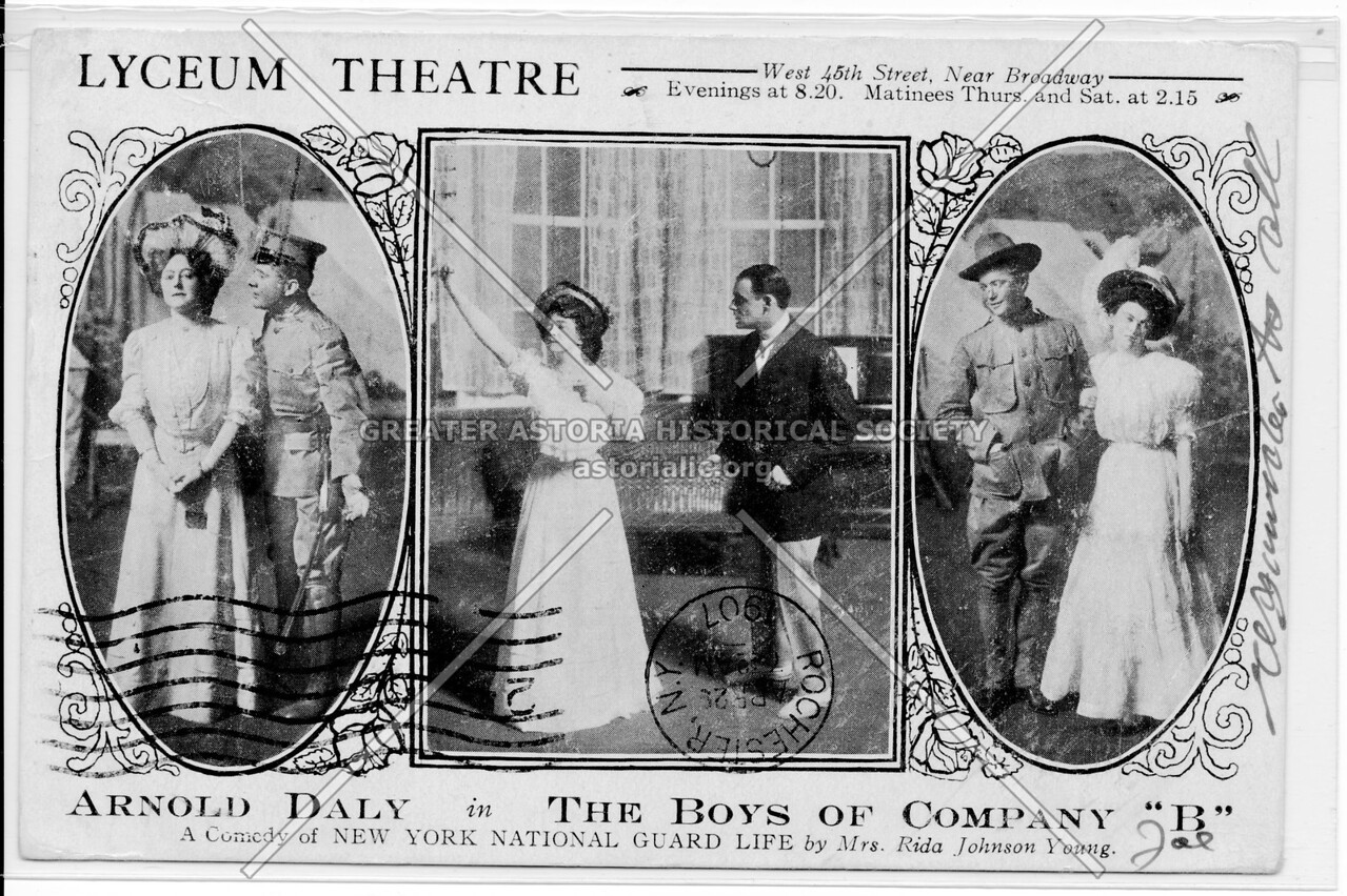 "Lyceum Theatre, Arnold Daly in The Boys Of Company ""B"""