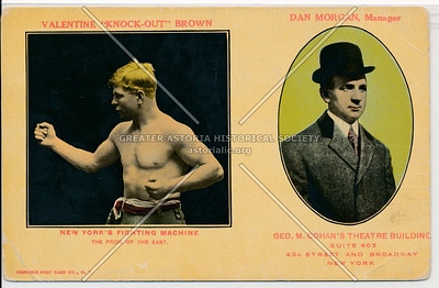"Valentine ""Knock-Out"" Brown, New York's Fighting Machine & Dan Morgan, Manager"