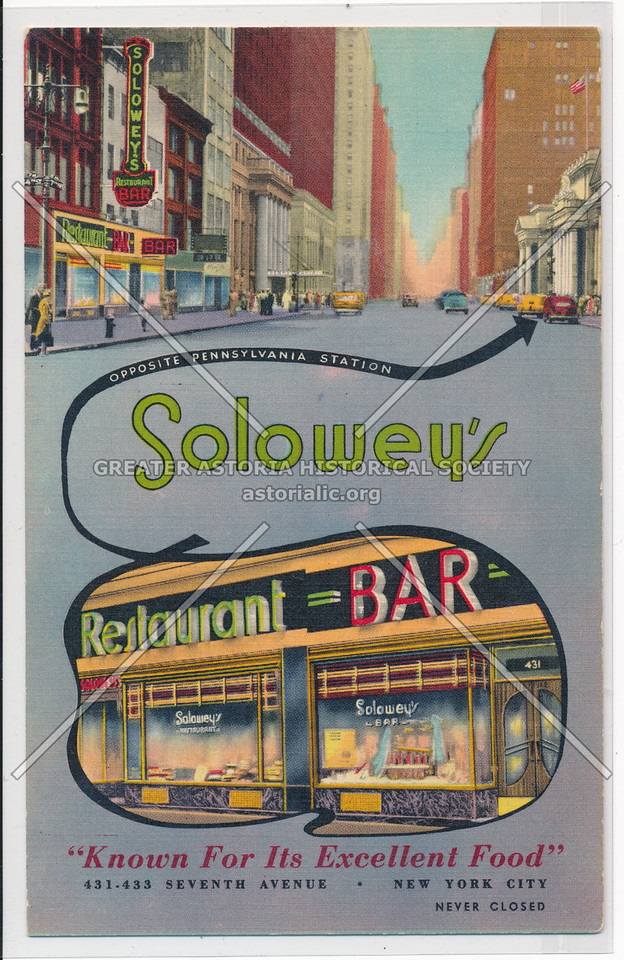 "Solowey's Restaurant Bar, ""Known For Its Excellent Food"""