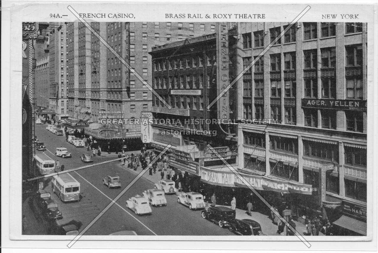 French Casino, Brass Rail & Roxy Theatre, New York