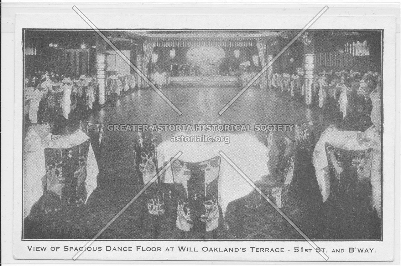 View Of Spacious Dance Floor At Will Oakland's Terrace- 51st St. And B'way