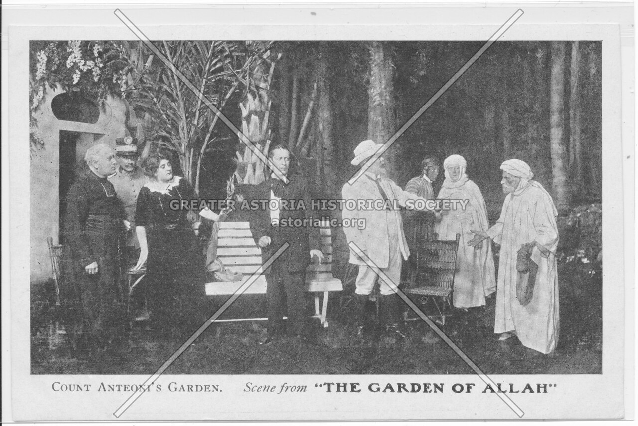 "Count Anteoni's Garden. Scene from ""The Garden Of Allah"""