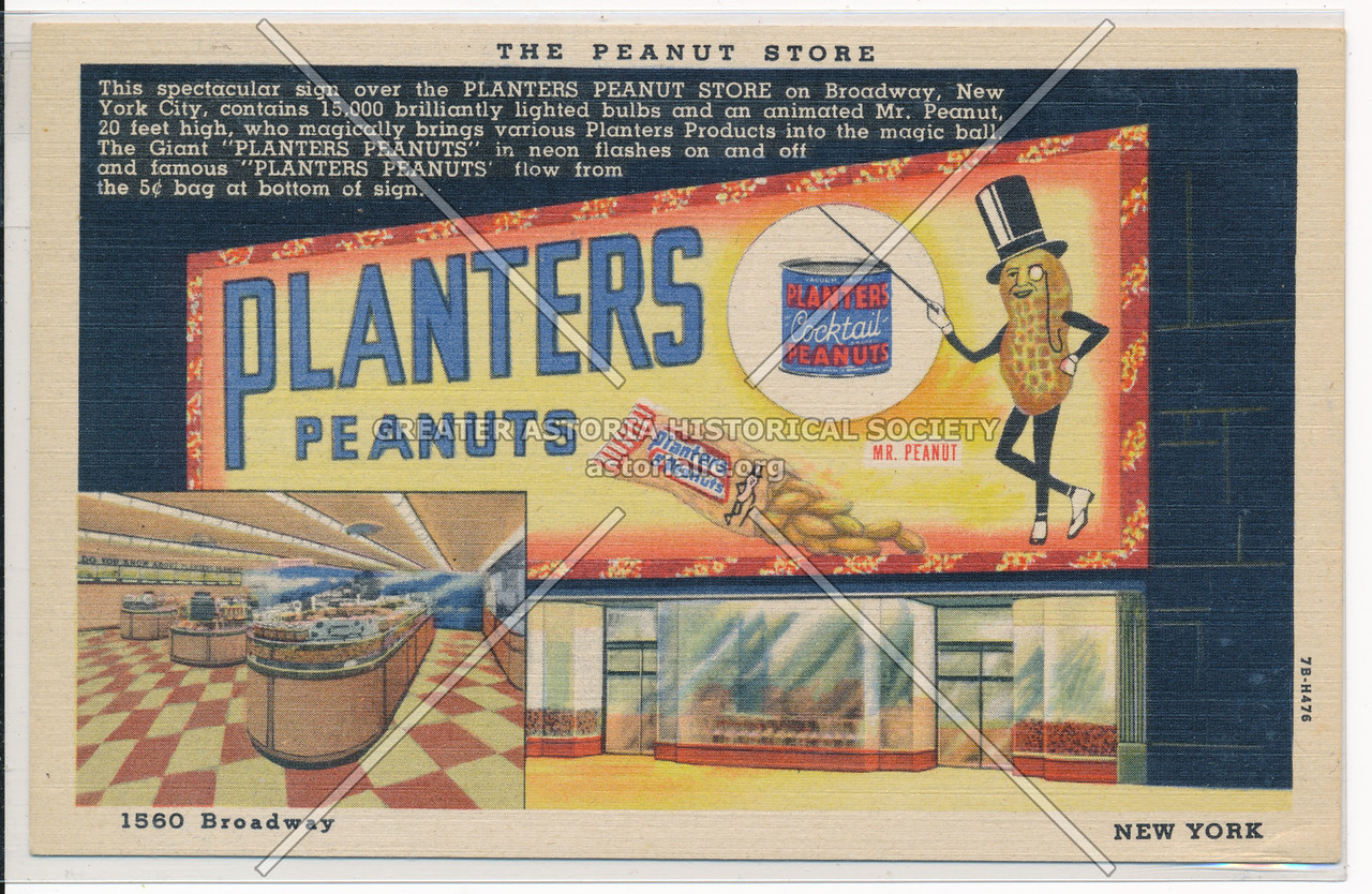 Planters Peanuts, The Peanut Store, 1560 Broadway, New York