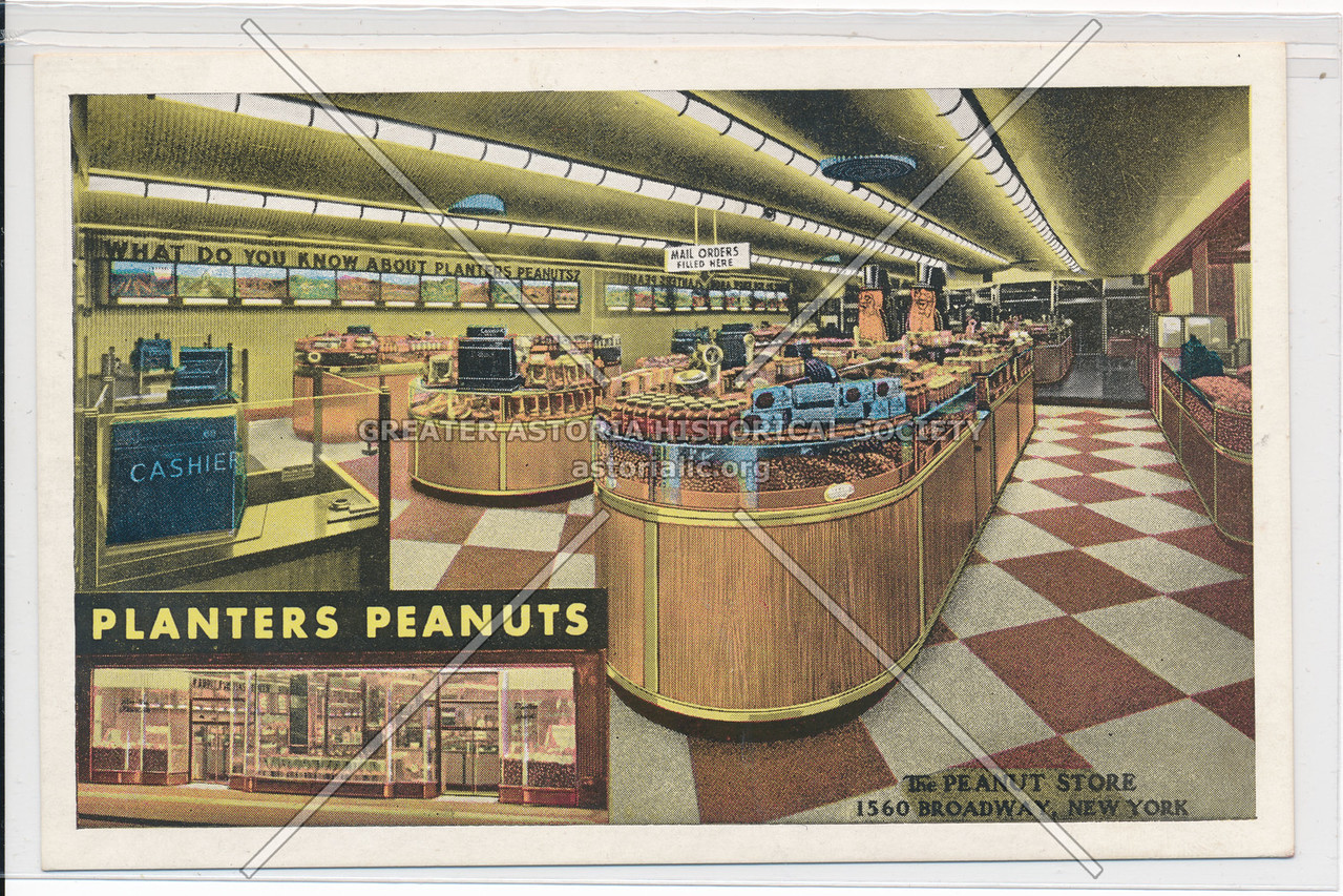 Planters Peanuts, The Peanut Store, 1560 Broadway, New York