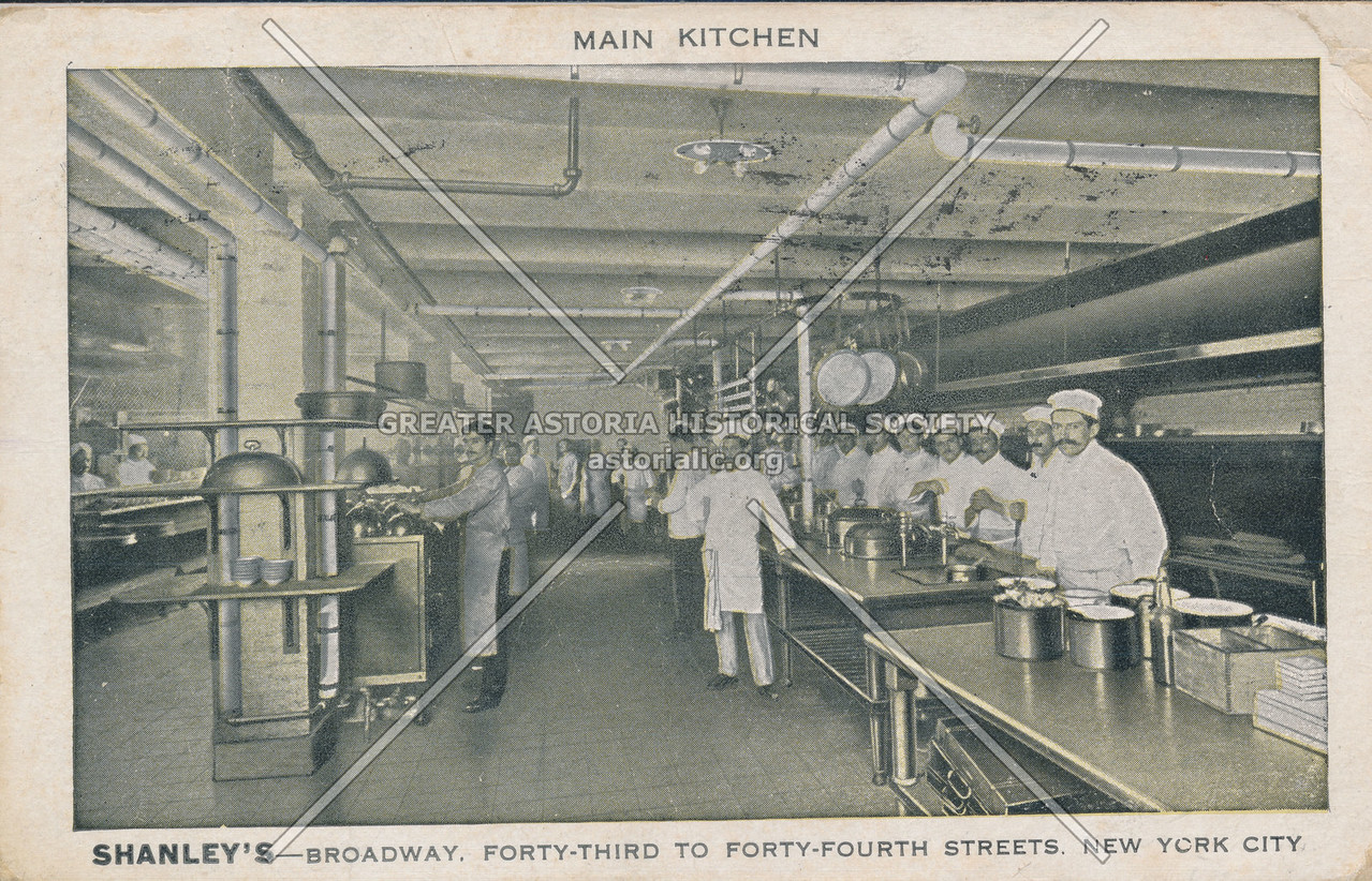 Main Kitchen, Shanley's- Broadway, Forty-Third To Forty-Fourth Streets, New  York City