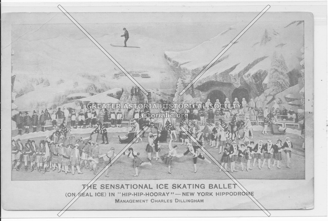 """The Sensational Ice Skating Ballet (One Real Ice) In """"Hip-Hip-Hooray""""- New York Hippodrome"""