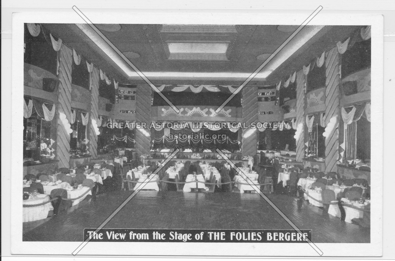 The View from the Stage of The Folies' Bergere