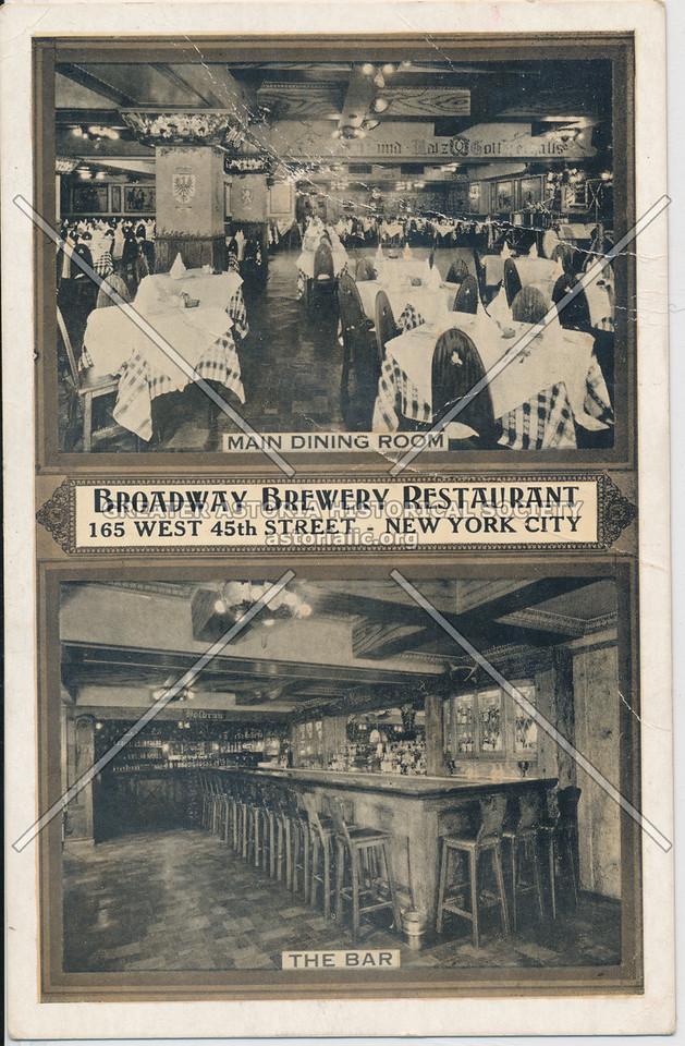 Broadway Brewery Restaurant, 165 West 45th Street- New York City