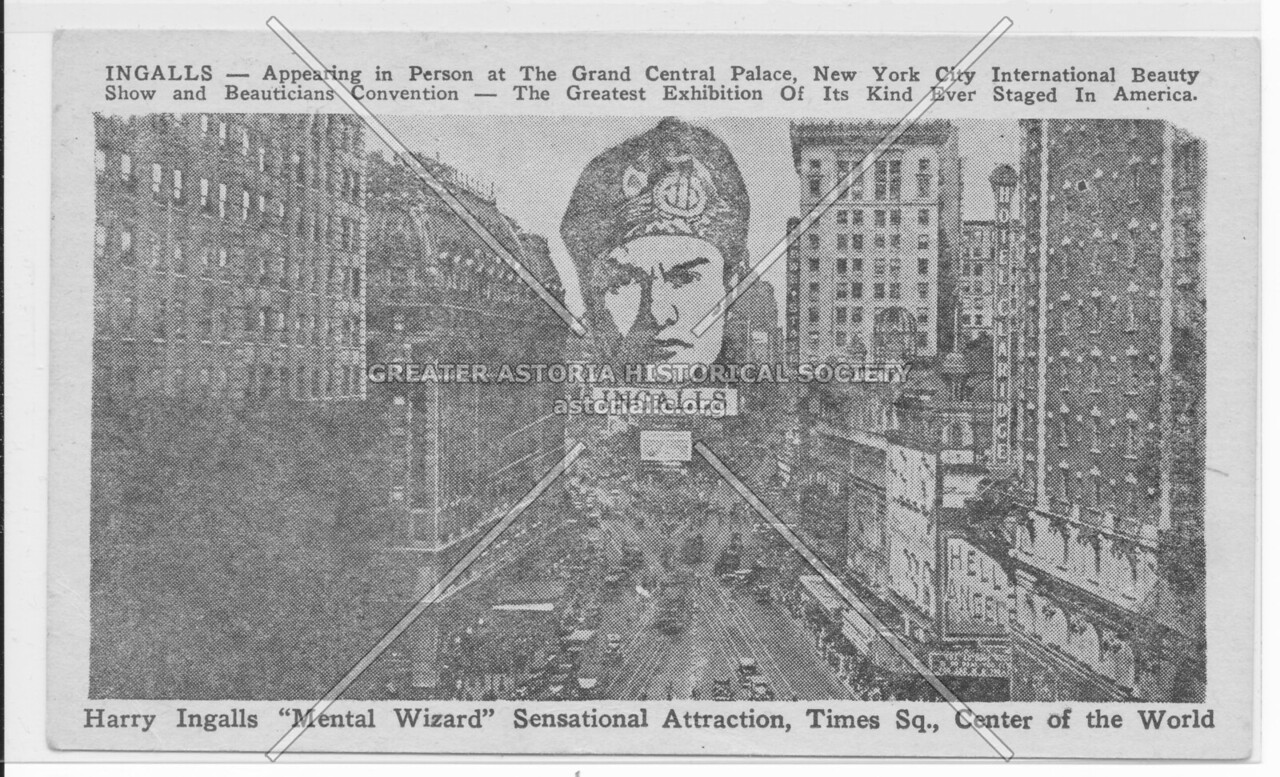 "Harry Ingalls ""Mental Wizard"" Sensational Attraction, Times Sq., Center of the World"