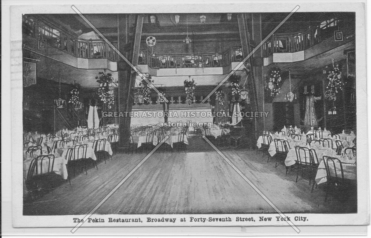 The Pekin Restaurant, Broadway at Forty-Seventh Street, New York City
