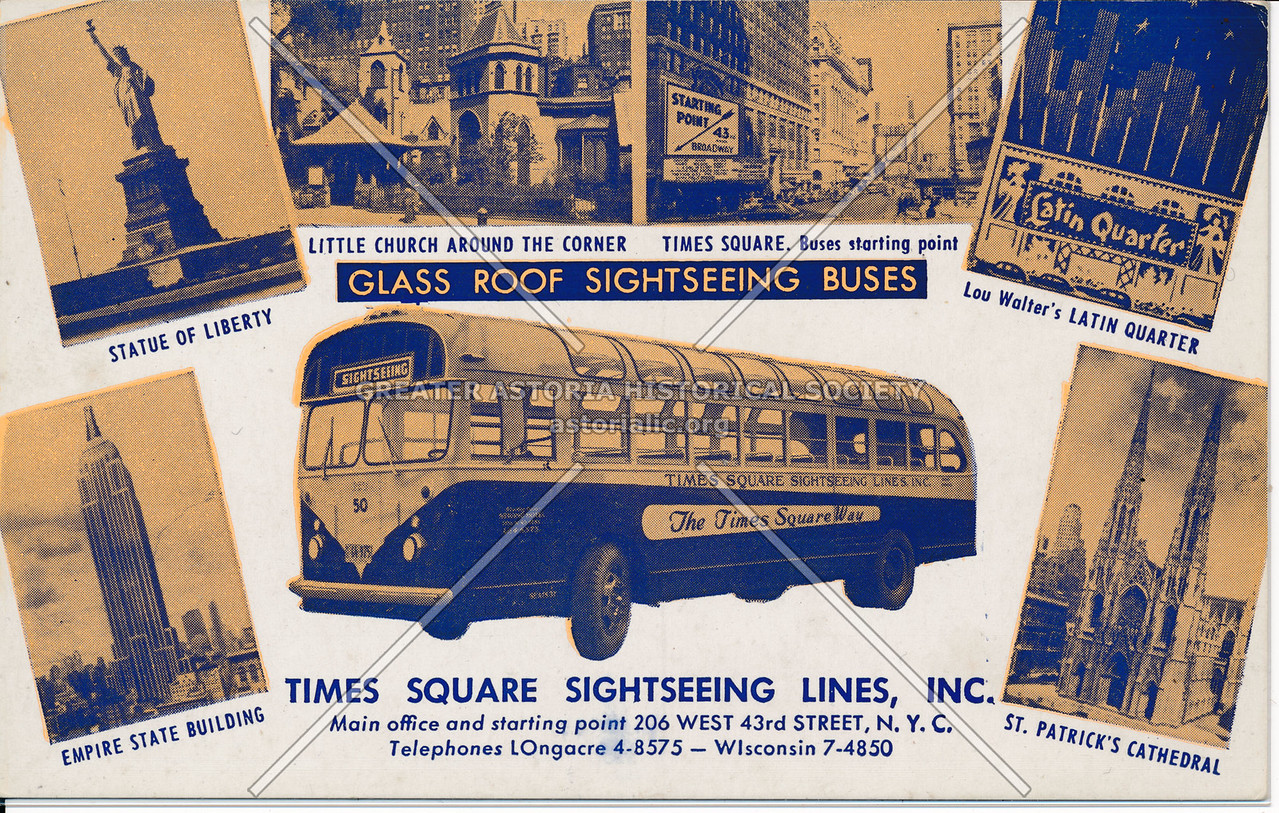 Glass Roof Sightseeing Buses, Times Square Sightseeing Lines, Inc.