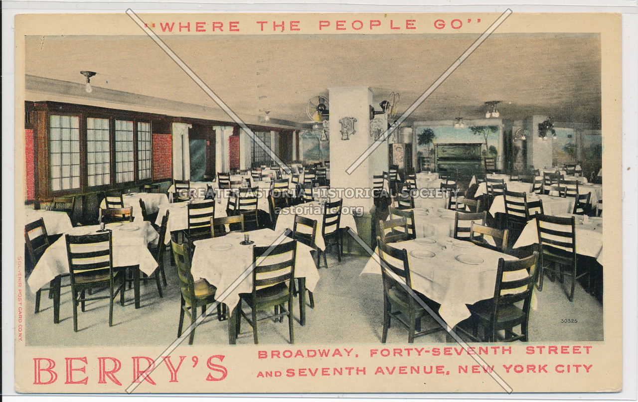 """Where The People Go"" Berry's, Broadway, Forty-Seventh Street And Seventh Avenue, New York City"