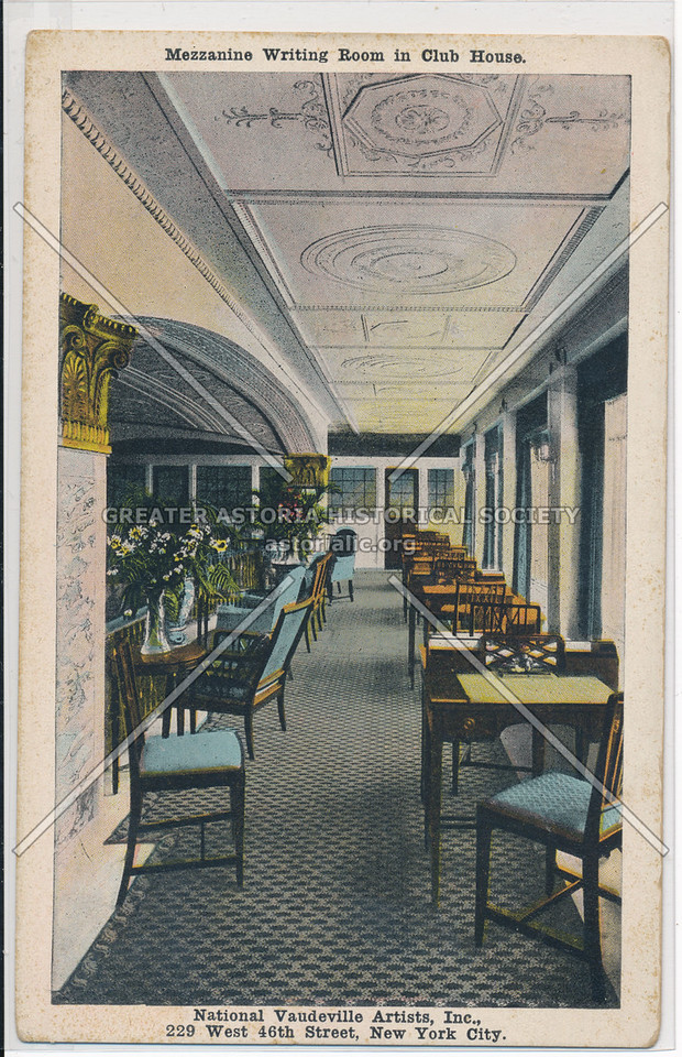 Mezzanine Writing Room in Club House, National Vaudeville Artists, Inc.