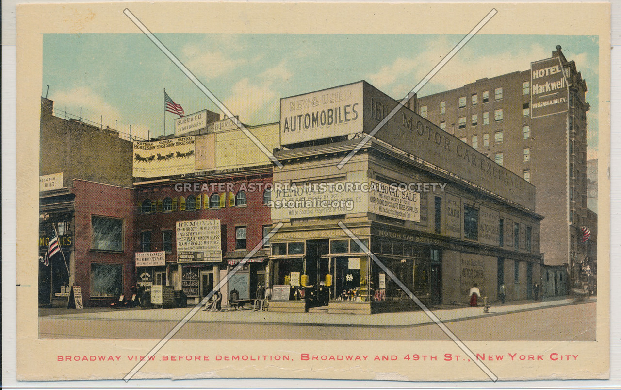 Broadway View Before Demolition, Broadway And 49th St., New York City